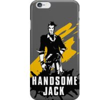 Handsome Jack (Colored BG) iPhone Case/Skin