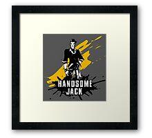 Handsome Jack (Colored BG) Framed Print