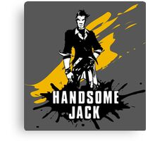 Handsome Jack (Colored BG) Canvas Print