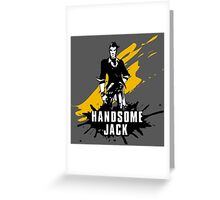 Handsome Jack (Colored BG) Greeting Card