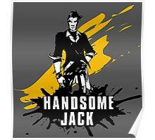 Handsome Jack (Colored BG) Poster