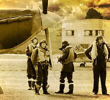 Pilots - 1940 by Colin  Williams Photography