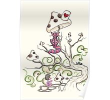 wonderland cheshire cat Poster