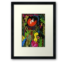 in the forest Framed Print