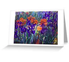 Field of Irises Greeting Card