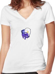 Spooky Pops Women's Fitted V-Neck T-Shirt