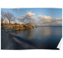 Shimmering Late Afternoon Light - Lakeside Zen Poster