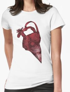 Plague Doctor Mask Womens Fitted T-Shirt