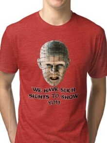 SUCH SIGHTS TO SHOW YOU Tri-blend T-Shirt