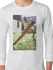 Old Rural Fence Long Sleeve T-Shirt
