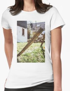 Old Rural Fence Womens Fitted T-Shirt