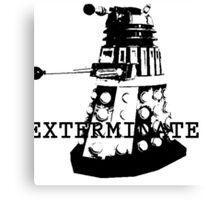 Stencil Dalek. Canvas Print