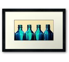 Blue Bottle Necks Framed Print