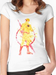 Supervillian Splatter Art Women's Fitted Scoop T-Shirt