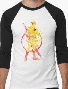 Supervillian Splatter Art Men's Baseball ¾ T-Shirt