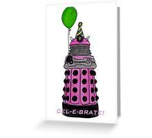 Pink and Festive Dalek. Greeting Card