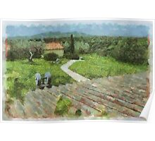 Tuscan Hilltop Poster