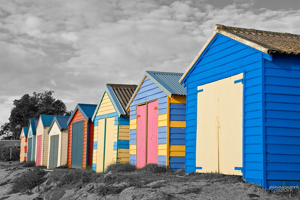 Bathing Huts - Dromana by pennyswork