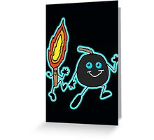Bomb and match stick Greeting Card