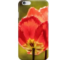 Glowing Red Tulips iPhone Case/Skin