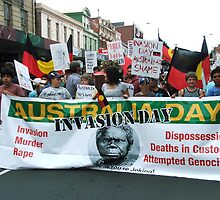 Invasion Day, 26/1/10, Hobart  by Jenny Forward