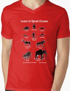 Learn to Speak Ciyawo (black animals white text) Mens V-Neck T-Shirt