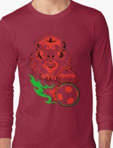 African Soccer Lion Long Sleeve T-Shirt