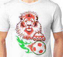 African Soccer Lion Unisex T-Shirt