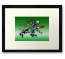 3d robot insect - m. a. weisse Framed Print