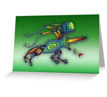 3d robot insect - m. a. weisse Greeting Card