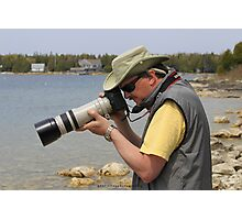 The Photographer in Action Photographic Print