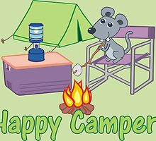 Happy Camper! Mouse Roasting Marshmallows by sunnydaysdesign