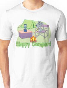 Happy Camper! Mouse Roasting Marshmallows Unisex T-Shirt