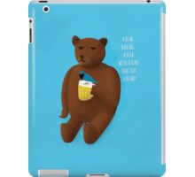 Bear, beer, bird, beard iPad Case/Skin