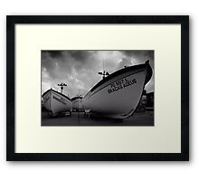 Fishing boats, Azores islands Framed Print