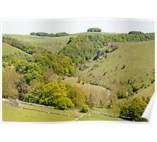 Hilltop View Above Mill Dale Poster