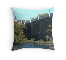 Gervais Street Bridge, Columbia, SC Throw Pillow