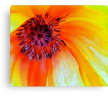 Celebrate the Poppy: Yellow Canvas Print