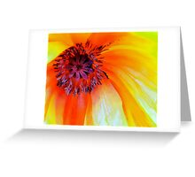 Celebrate the Poppy: Yellow Greeting Card