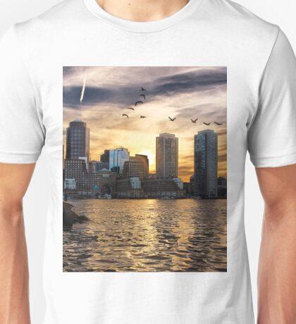 Boston Harbor at Sunset Unisex T-Shirt
