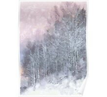 Winter Trees On A Hillside Poster