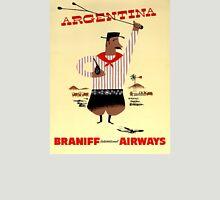 Argentina Vintage Travel Poster Restored Unisex T-Shirt