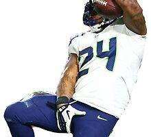 Seahawks Marshawn Lynch Nut Grab by nyrhipster9