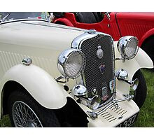 White & Red Singer classic cars Photographic Print