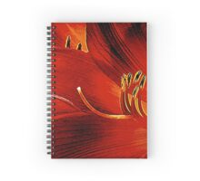 Blood-red Flowers Spiral Notebook