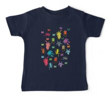 pattern with goats and frogs Baby Tee