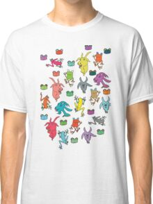 pattern with goats and frogs Classic T-Shirt