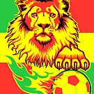 African Soccer Lion Poster by Rustyoldtown