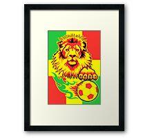 African Soccer Lion Poster Framed Print