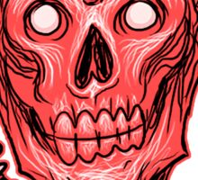 Zombie Skull Head Red Sticker